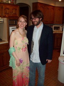 Joe and I from the 2010 Oscar Party - Nooo, if we actually went to the Academy Awards, he would not be allowed to wear jeans.  And I have something even more fabulous planned for this year!