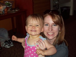 It's an old shot, she's four now, but it's still my favorite one of us.