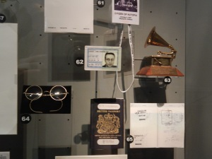 John Lennon's Visa Card, Grammy Award, Passport and Glasses