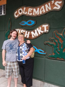 Joe and his aunt, who was our wonderful tour guide in Wheeling