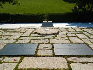 The eternal flame at President Kennedy's gravesite.