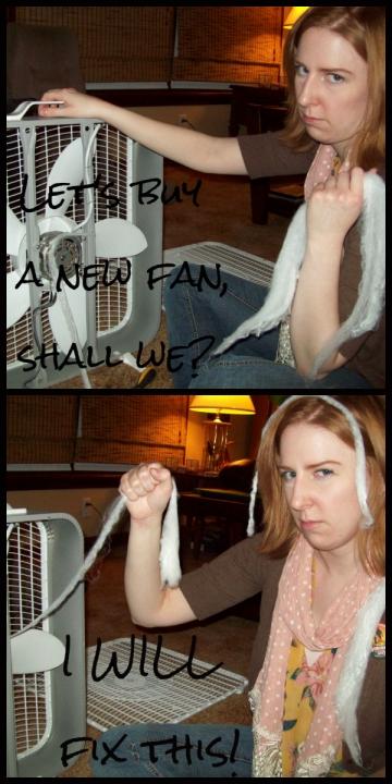 The fan is not my friend.
