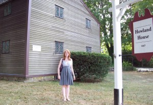 Me standing in front of the Jabez Howland house in Plymouth, MA - one of only two houses still standing where a pilgrim (John and Elizabeth) actually lived.