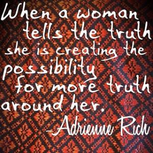 Adrienne Rich quote