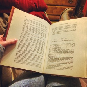 Reading Anne of Green Gables