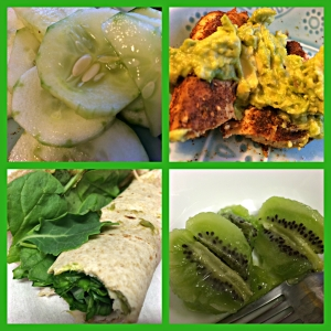 green foods collage